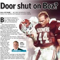 Photo - Door shut on Boz? HALL OF FAME / NO ONE DESERVES TO BE INDUCTED MORE, BUT IMAGE IS EVERYTHING graphic / illustration with photos, from top: 1) OU, UNIVERSITY OF OKLAHOMA, COLLEGE FOOTBALL, MOHAWK: