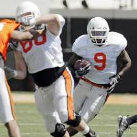Photo -  After giving up football last year, former Guthrie phenom Kye Staley is back with OSU.