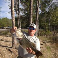 Photo -  Greg Blaylock of Norman with a 10.4-pound largemouth bass from Broken Bow Lake
