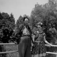 Photo - FILE - This April 13, 1939 file photo shows Mexican muralist Diego Rivera and his artist wife Frida Kahlo at their home in Mexico City. The Detroit Institute of Arts announced Monday, May 5, 2014, that it is planning an exhibition for next year that focuses on the period between April 1932 and March 1933, which the museum refers to as
