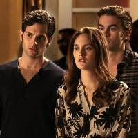 "Photo -  ""The Townie"" Gossip Girl Pictured(L-R)  Penn Badgley as Dan Humphrey, Leighton Meester as Blair Waldorf and Chace Crawford as Nate Archibald PHOTO CREDIT:  GIOVANNI RUFINO/ THE CW ©2010 THE CW NETWORK.  ALL RIGHTS RESERVED"