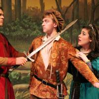 "Photo - Putnam City West High School's production of ""Robin Hood: The Courtship of Allan A'Dale"" features Ben Holley as Little John, Joah Enevoldsen as Allan A'Dale and Kimberly Thomas as Lady Genevieve. Photos Provided"