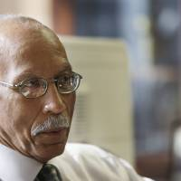 Photo - Detroit Mayor Dave Bing is interviewed in his office, Wednesday, March 6, 2013. The mayor says he believes Michigan Gov. Rick Snyder will appoint an emergency manager over the city's finances and that he