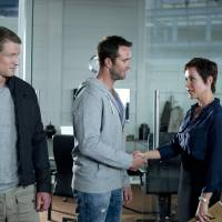 "Photo -  From left, Philip Winchester, Sullivan Stapleton and Amanda Mealing of ""Strike Back"" - Cinemax Photo"
