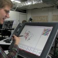 Photo - This photo provided by 2K Games shows a student drawing an illustration in the film,
