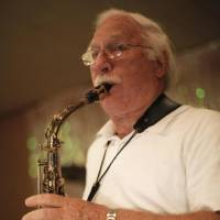 Photo -  Milo Shedeck plays saxophone with the Milo Schedeck band at Czech Hall in Yukon, Okla., Saturday, Sept. 29, 2012.  Photo by Garett Fisbeck, The Oklahoman