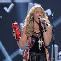 Photo -   In this April 25, 2012 photo released by Fox, contestant Elise Testone performs on the singing competition series