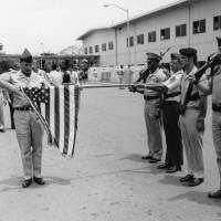 Photo - FILE - In this March 29, 1973 file photo, the American flag is furled at a ceremony marking official deactivation of the Military Assistance Command-Vietnam (MACV) in Saigon, after more than 11 years in South Vietnam. While the fall of Saigon in 1975 — with its indelible images of frantic helicopter evacuations — is remembered as the final day of the Vietnam War, March 29 marks an anniversary that holds greater meaning for many who fought, protested or otherwise lived the war. (AP Photo/Charles Harrity, File)