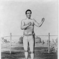 Photo - This undated image provided by the Library of Congress via the Saratoga Springs History Museum shows a 19th century Currier & Ives drawing of John Morrissey. Saratoga Race Course is tipping its hat to Morrissey, the Irish-born fighter-gambler-politician who punched his way to national fame before the Civil War and launched what's now the nation's oldest and most successful racetrack. Other than closures forced by moral crusaders and World War II, Saratoga Race Course has been going strong ever since it opened on Aug. 2, 1864. Its 146th season is underway through Labor Day. (AP Photo/Library of Congress)