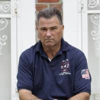 Photo -   Retired firefighter Jim Riches poses for a picture near his home in New York, Thursday, May 3, 2012. Riches, whose son was killed during the 2001 terrorist attacks on the World Trade center, will be among those to watch the arraignment of Khalid Sheikh Mohammed. The arraignment of the self-proclaimed mastermind of the Sept. 11 terror attacks and four other Guantanamo Bay prisoners will be broadcast to only six sites at four military bases in the U.S. Northeast, a Pentagon spokesman said Monday. (AP Photo/Seth Wenig)