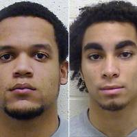 Photo - This combo made from undated booking photos released by the Torrington, Conn., Police Department shows Torrington High School football players Edgar Gonzalez, left, and Joan Toribio, charged Monday, March 18, 2013, with felony second-degree sexual assault and other crimes in February in cases involving different 13-year-old girls.  One of the 13-year-old girls, who accused Gonzalez and Toribio, has received taunts on online social media.  (AP Photo/Torrington, Conn. Police Department)