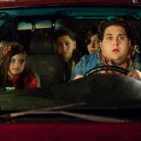 """Photo - From left, Landry Bender, Kevin Hernandez, Max Records and Jonah Hill are shown in a scene from """"The Sitter."""" 20th CENTURY FOX PHOTO"""