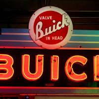 Photo - This Buick sign is in a private collection but represents the type that organizers would like to be on display in a  billboard and sign museum project in Bethany. Photo By David McDaniel, The Oklahoman  David McDaniel - The Oklahoman