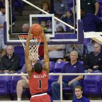 Photo - Texas Tech guard Randy Onwuasor (1) steals the ball and returns it for two points as TCU guard Kyan Anderson (5) defends during an NCAA college basketball game Saturday, Jan. 18, 2014, in Fort Worth, Texas. Texas Tech won 60-49. (AP Photo/Fort Worth Star-Telegram, Max Faulkner) MAGS OUT (FORT WORTH WEEKLY, 360 WEST); INTERNET OUT
