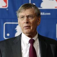 Photo - FILE - In this Aug. 15, 2013, file photo, Baseball Commissioner Bud Selig speaks during a news conference in Cooperstown, N.Y. People familiar with the negotiations tell The Associated Press that baseball players and management hope to reach a new drug agreement this week that would increase initial penalties for muscle-building steroids and decrease suspensions for some positive tests caused by unintentional use. (AP Photo/Mike Groll, File)