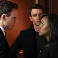 Photo - This image released by ABC shows Tony Goldwyn, from left, Scott Foley and Kerry Washington in a scene from