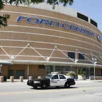 Photo - BUILDING EXTERIOR / NBA BASKETBALL / SIGN: The Thunder have yet to trigger a naming rights deal for the Ford Center in Oklahoma City, OK, Friday, July 17, 2009. By Paul Hellstern, The Oklahoman ORG XMIT: KOD