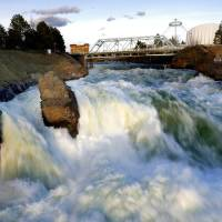 Photo -  Falls at the Riverfront Park in downtown Spokane. Photo by Sarah Phipps, The Oklahoman