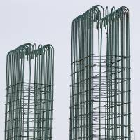 Photo -  Steel rebar forms are in place to create columns that will support a future connection between Interstate 40 and the new downtown boulevard south of Lower Bricktown.   NATE BILLINGS -