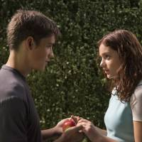 """Photo -  This image released by The Weinstein Co. shows Brenton Thwaites, left, and Odeya Rush in a scene from """"The Giver."""" AP Photo   David Bloomer -  AP"""
