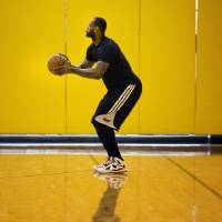 Photo - Miami Heat's LeBron James shoots during an NBA basketball practice session, Saturday, May 4, 4013 in Miami.  A formal announcement is planned Sunday saying James will win the NBA's Most Valuable Player award for a fourth time. (AP Photo/J Pat Carter)