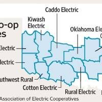 Photo - POWER OUTAGES / GRAPHIC / MAP / ILLUSTRATION: Electric co-op outages