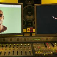 Photo -   In this photo taken Tuesday, June 12, 2012, video images of the Tupac Shakur hologram are displayed on a computer monitor at the Subtractive Studio in Santa Monica, Calif. When Tupac Shakur rose from the stage in the California desert earlier this year, it was not only a jaw-dropping resurrection, but also the beginning of a new form of live entertainment. Stars wield extensive control over how their names, voices and images are used after they die through likeness, trademark and copyright protections, and now holograms offer them yet another consideration. (AP Photo/Damian Dovarganes)