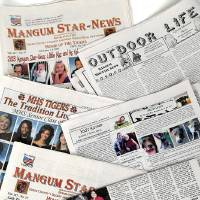 Photo - Copies of the Mangum Star-News.