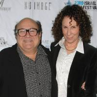 "Photo -   FILE - This Oct. 29, 2008 file photo shows actors Danny Devito, left, and Rhea Perlman attending the opening night of the 23rd Annual Israel Film Festival at the Ziegfeld Theatre in New York. A spokesman for DeVito says the couple is separating after 30 years of marriage. Publicist Stan Rosenfield offered no other details. DeVito and Perlman married in 1982 and have three adult children. Together, the couple established the production company Jersey Films, which counts ""Pulp Fiction,"" ""Erin Brockovich"" and ""Out of Sight"" among its credits. DeVito stars in TV's ""It's Always Sunny in Philadelphia."" Perlman is best known for her long-running role as Carla the waitress on ""Cheers."" (AP Photo/Peter Kramer, file)"