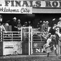 Photo - NFR / BULL RIDING: Bull rider Donnie Gay competes at the National Finals Rodeo. STAFF PHOTO BY JIM ARGO (Original photo taken 12-08-1976)ORG XMIT: 0811282017260906
