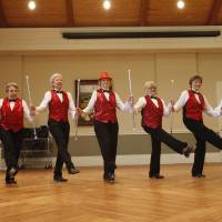 Photo - Members of the Senior Sensations tap dancing group performed at the Edmond Senior Center on Wednesday, June 5, 2013. The dancers range from age 62 to 92  years