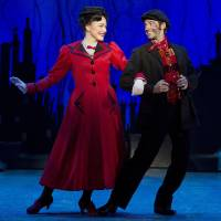 Photo - Mary Poppins (Madeline Trumble) and Bert (Con O'Shea-Creal) share a charming moment in the Tony Award-winning musical.   Photo by Jeremy Daniel  Photo by Jeremy Daniel