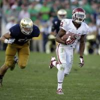 Photo -  Sterling Shepard's 54-yard touchdown reception against Notre Dame came out of a two-tight end set.