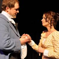"""Photo - Tyler Woods (Mr. Darcy) and Jennifer Wells (Elizabeth Bennet), seen here in a 2009 production of """"Pride and Prejudice,"""" will reprise their roles during a staged reading of the play at this year's Jane Austen Festival. Photo provided"""