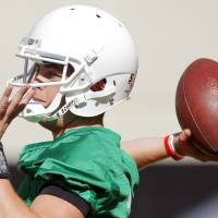 Photo - OSU quarterback Wes Lunt will start as a true freshman and carries high expectations. Photo by Nate Billings, The Oklahoman