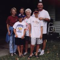 Photo -                    Darrell Porter, right, died in 2002, leaving behind, from left, his wife, Deanne; son, Ryan; daughter, Lindsey; mother, Twila Mae; and son, Jeff.                     Photo provided