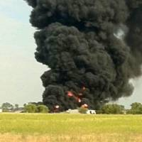 Photo - Smoke billows Saturday from Hodges Trucking in Elk City. Reader-submitted photo