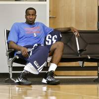 Photo - Kendrick Perkins has filled his role perfectly this postseason. But for him to be effective he has to be on the court, not the bench.  Photo by Chris Landsberger, The Oklahoman  CHRIS LANDSBERGER -  CHRIS LANDSBERGER