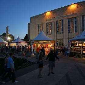 Civic Center Music Hall, shown during the recent Festival of the Arts, will be the venue for Broadway musicals presented by OKC Broadway, a new partnership between the Civic Center Foundation and the New York City-based Nederlander Organization. [Photo by Doug Hoke, The Oklahoman]