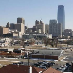 This is the city skyline from 12th and N. Walker in Oklahoma City, OK, Thursday, March 6, 2014, Photo by Paul Hellstern, The Oklahoman