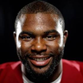 Former Oklahoma linebacker Eric Striker. (Photo by Bryan Terry, The Oklahoman)
