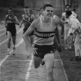 Larry Rose, the state high school mile record holder from U.S. Grant, won the 880-yard run at the state Class AA track meet in 1:54.8 He later won his specialty, but his time of 4:19.3 was off his state record pace of 4:12.6. [Photo from The Oklahoman archives]