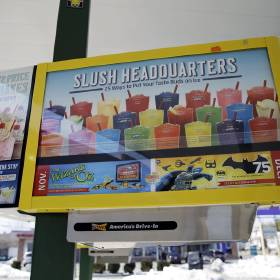 Left: Sonic's Slush drink menu is seen on a menu board in Holmes, Pa. [AP File Photo]