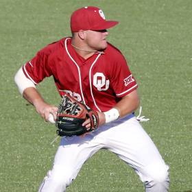 Oklahoma\'s Sheldon Neuse is The Oklahoman\'s Big 12 Baseball Player of the Year. (Photo by Steve...