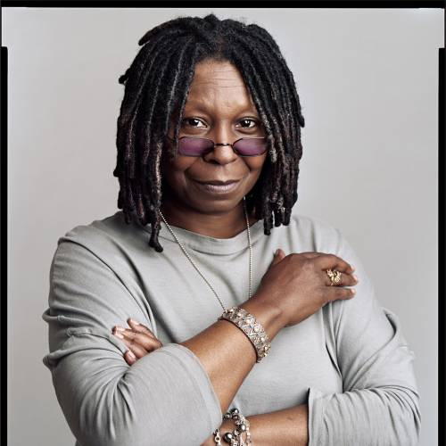 "This undated handout photo, by Timothy Greenfield-Sanders, provided the National Gallery of Art, shows Whoopi Goldberg. Goldberg, John Legend, Sean Combs and Serena Williams now have a place in the National Portrait Gallery in a new show featuring leading black figures from entertainment, politics, sports and business. ""The Black List"" opens Friday featuring 50 large-scale photographs from Timothy Greenfield-Sanders' project that also included a 2008 HBO film. (AP Photo/Timothy Greenfield-Sanders, National Gallery of Art)"