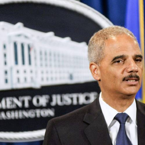 WASHINGTON, DC - SEPTEMBER 30: U.S. Attorney General Eric Holder speaks during a press conference announcing Department of Justice plans to sue North Carolina over Voter ID regulations at the Department of Justice on September 30, 2013 in Washington, DC. Under the new law North Carolina residents are required to show a photo ID at polling places which some believe threatens the voting rights of minorities. (Photo by Kris Connor/Getty Images)