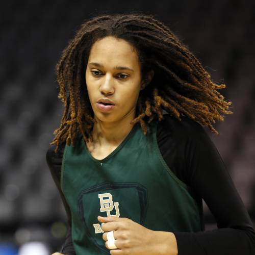 Baylor's Brittney Griner (42) warms up before practice during the press conference and practice day at the Oklahoma City Regional for the NCAA women's college basketball tournament at Chesapeake Energy Arena in Oklahoma City, Saturday, March 30, 2013. Photo by Nate Billings, The Oklahoman