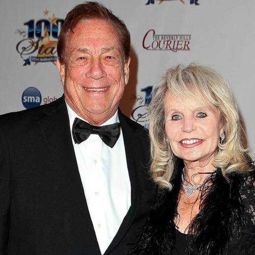 Owner of the Clippers Donald Sterling (L) arrives at the 21st Annual Night of 100 Stars Awards Gala at Beverly Hills Hotel on February 27, 2011 in Beverly Hills, California. *** Local Caption ***