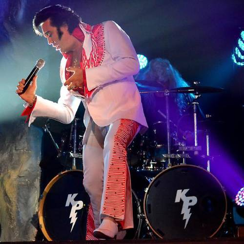 Kraig Parker, as Elvis, will perform a benefit concert Saturday, July 27, in Chickasha. (Provided)