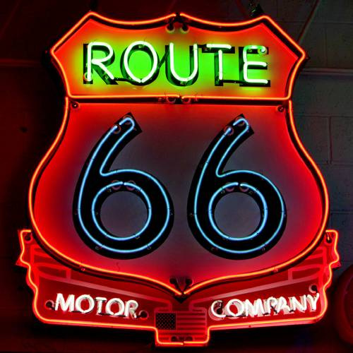 Route 66 Motor Company sign, Thursday , February 14, 2013. The signs are in a private collection but represent the type they would like to have on display in the Billboard and Sign Museum project in Bethany. Photo By David McDaniel/The Oklahoman